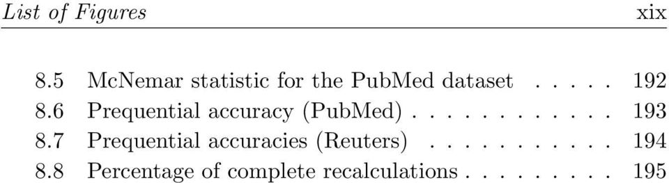 6 Prequential accuracy (PubMed)............ 193 8.