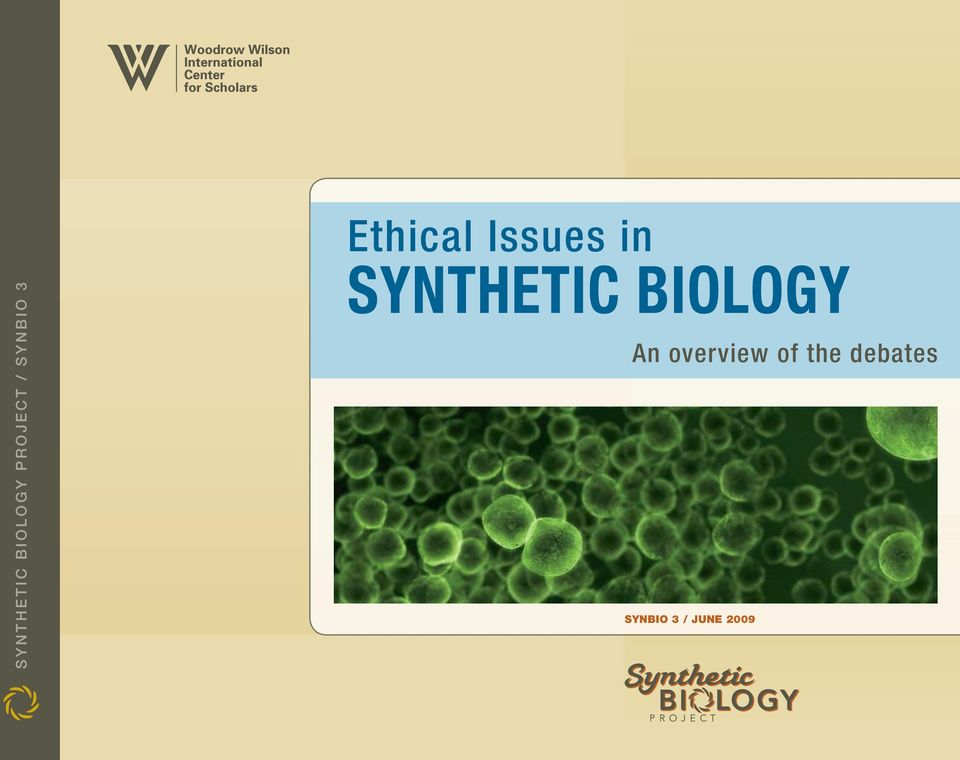 Synthetic Biology An overview