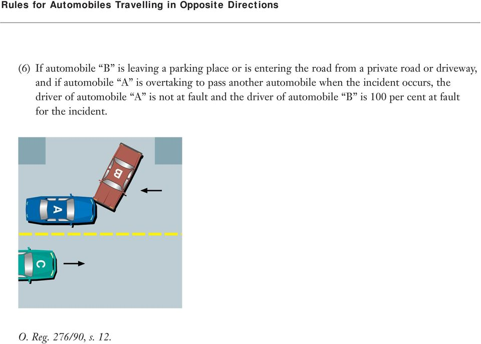 overtaking to pass another automobile when the incident occurs, the driver of automobile is
