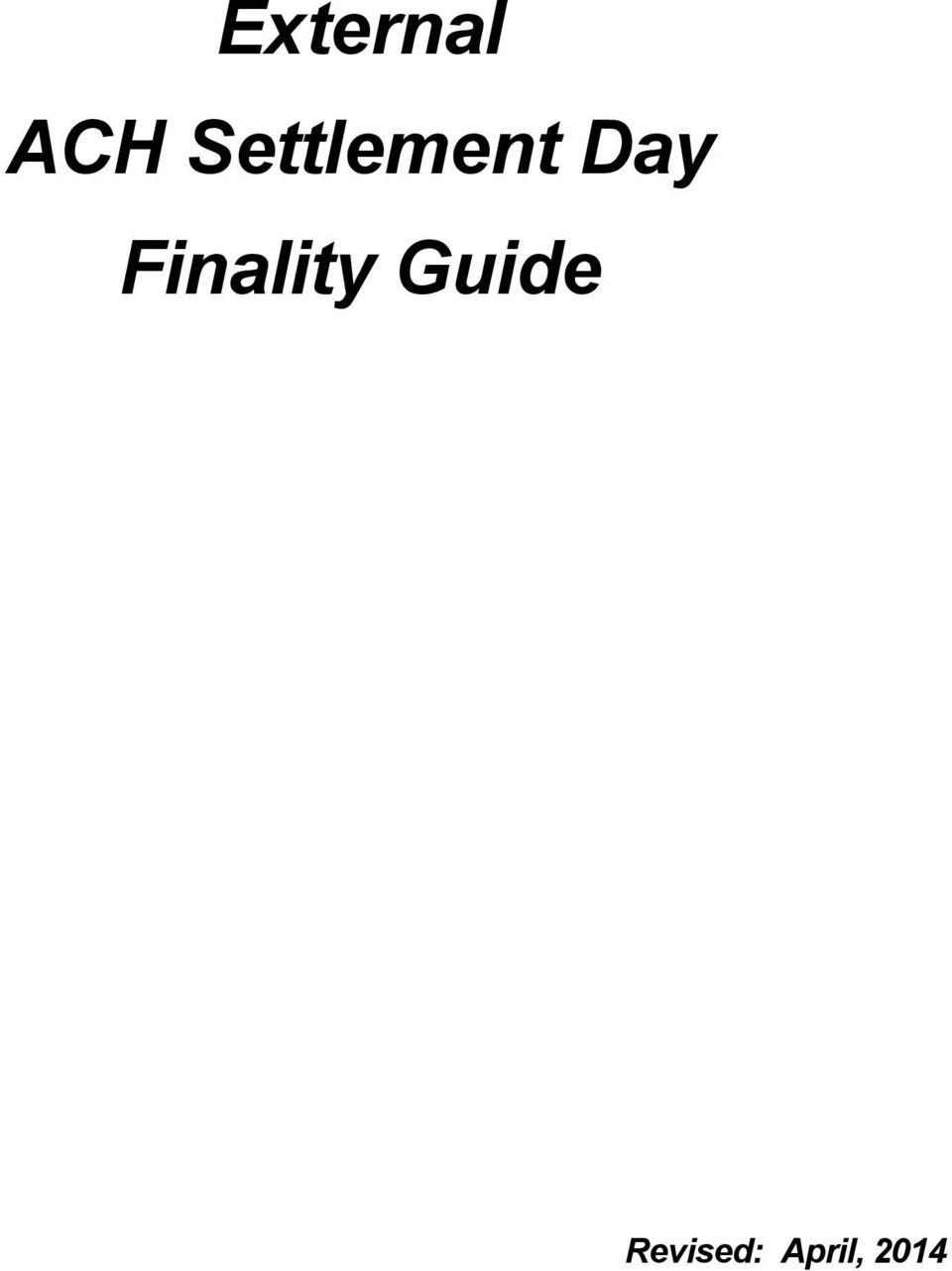 Finality Guide