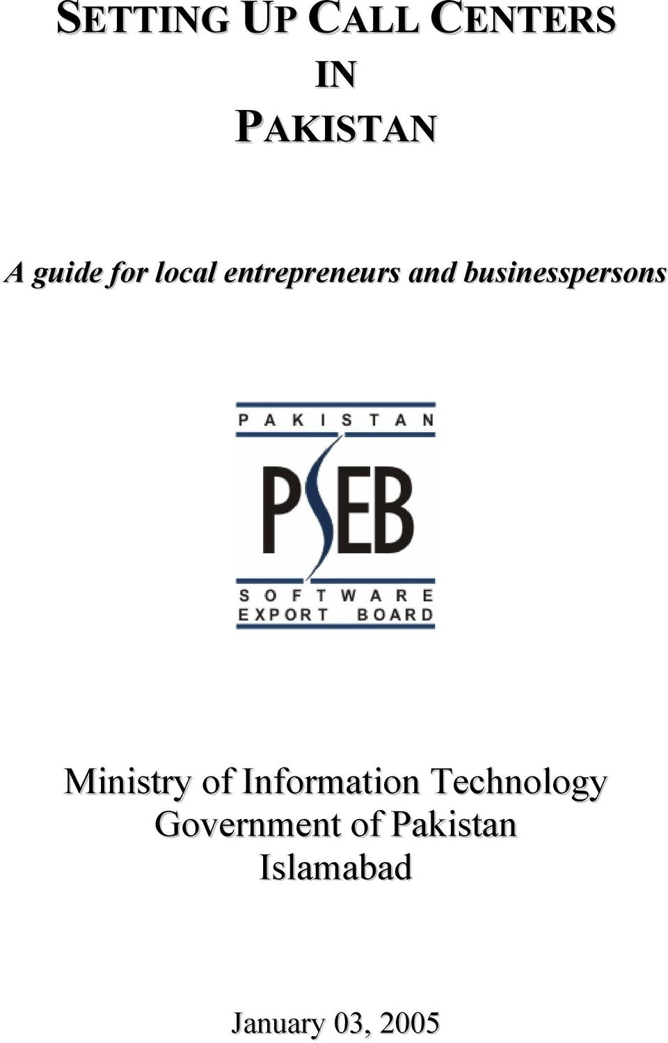 businesspersons Ministry of Information