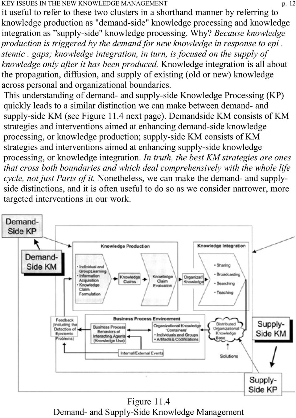 processing. Why? Because knowledge production is triggered by the demand for new knowledge in response to epi. stemic.