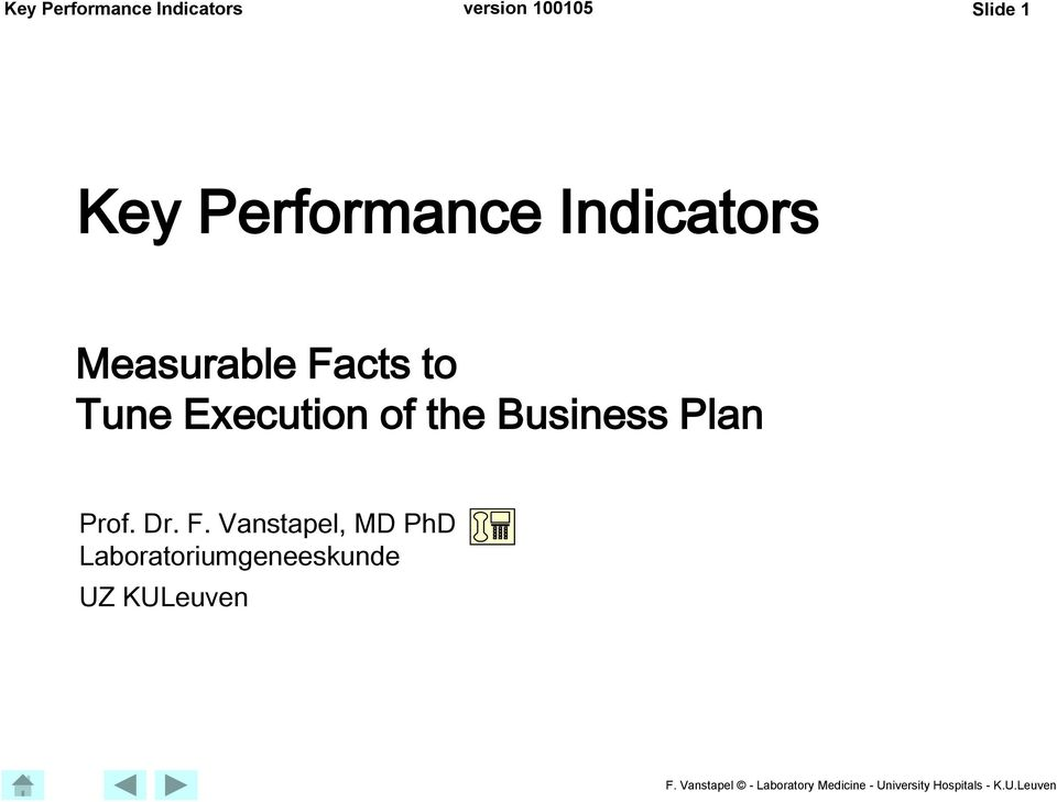 the Business Plan Prof. Dr. F.
