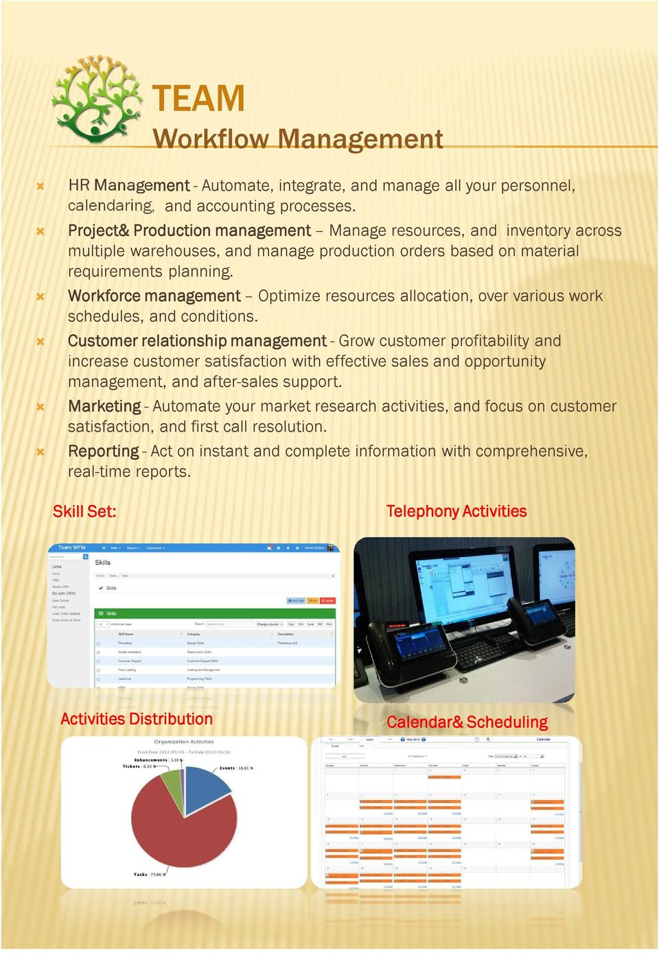 Workforce management Optimize resources allocation, over various work schedules, and conditions.
