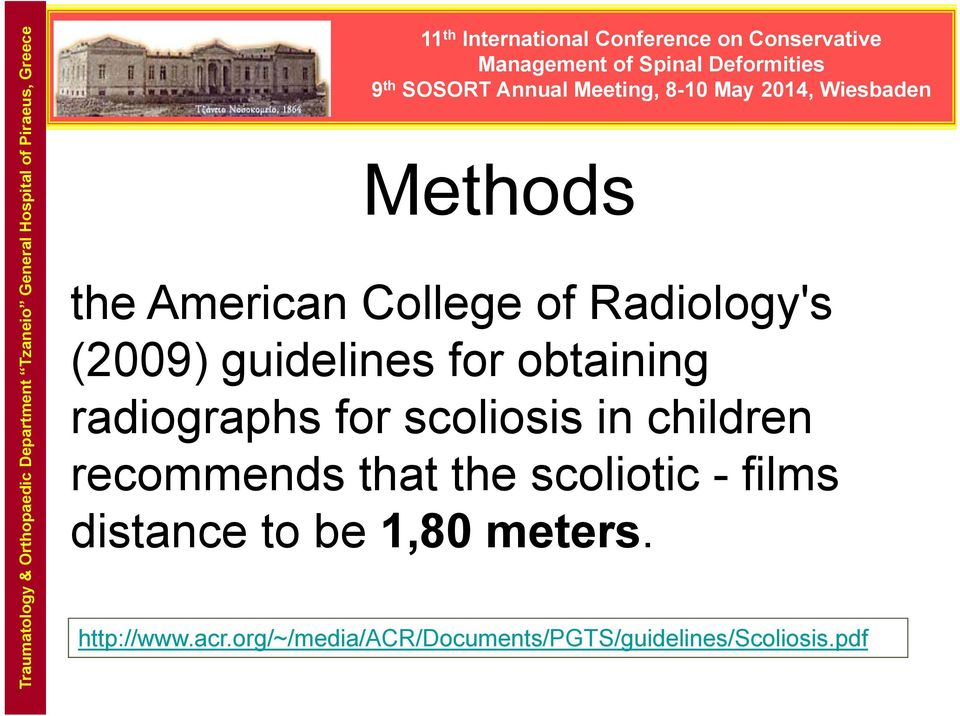scoliosis in children recommends that the scoliotic - films distance to be