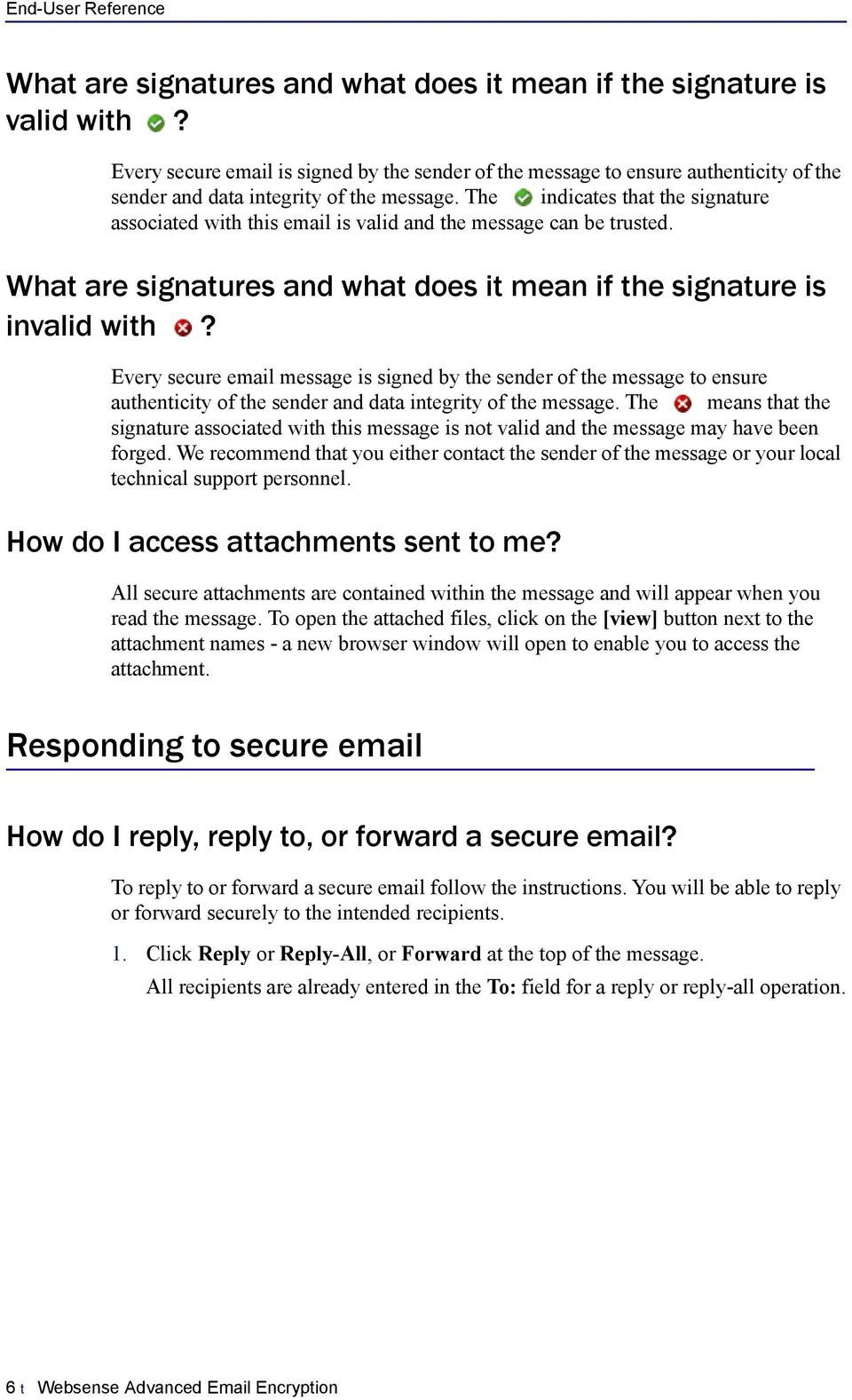 The indicates that the signature associated with this email is valid and the message can be trusted. What are signatures and what does it mean if the signature is invalid with?