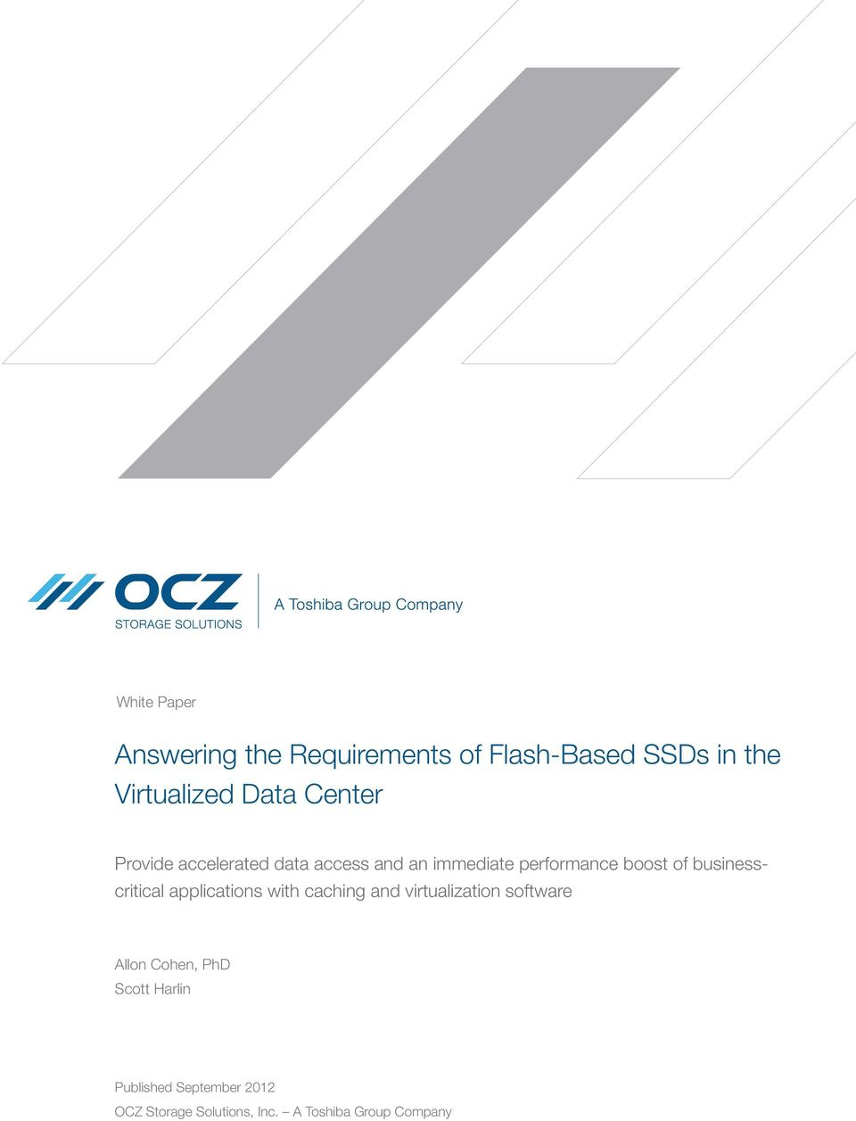 businesscritical applications with caching and virtualization software Allon Cohen,