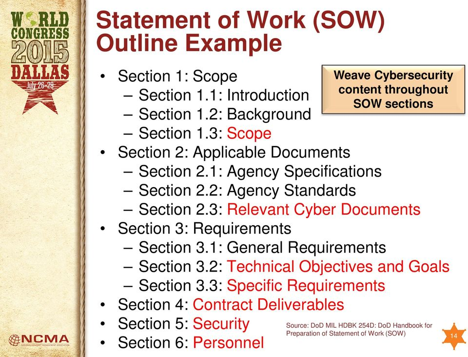 2: Agency Standards Section 2.3: Relevant Cyber Documents Section 3: Requirements Section 3.1: General Requirements Section 3.2: Technical Objectives and Goals Section 3.