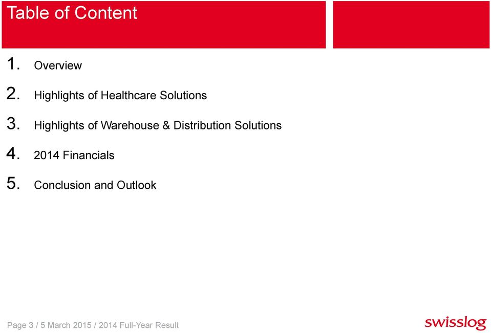 Highlights of Warehouse & Distribution Solutions 4.