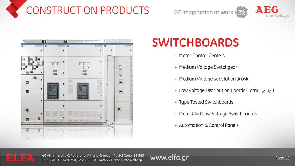 Distribution Boards (Form 1,2,3,4) Type Tested Switchboards