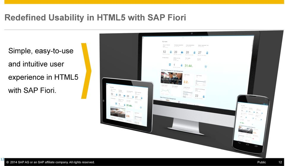 experience in HTML5 with SAP Fiori.