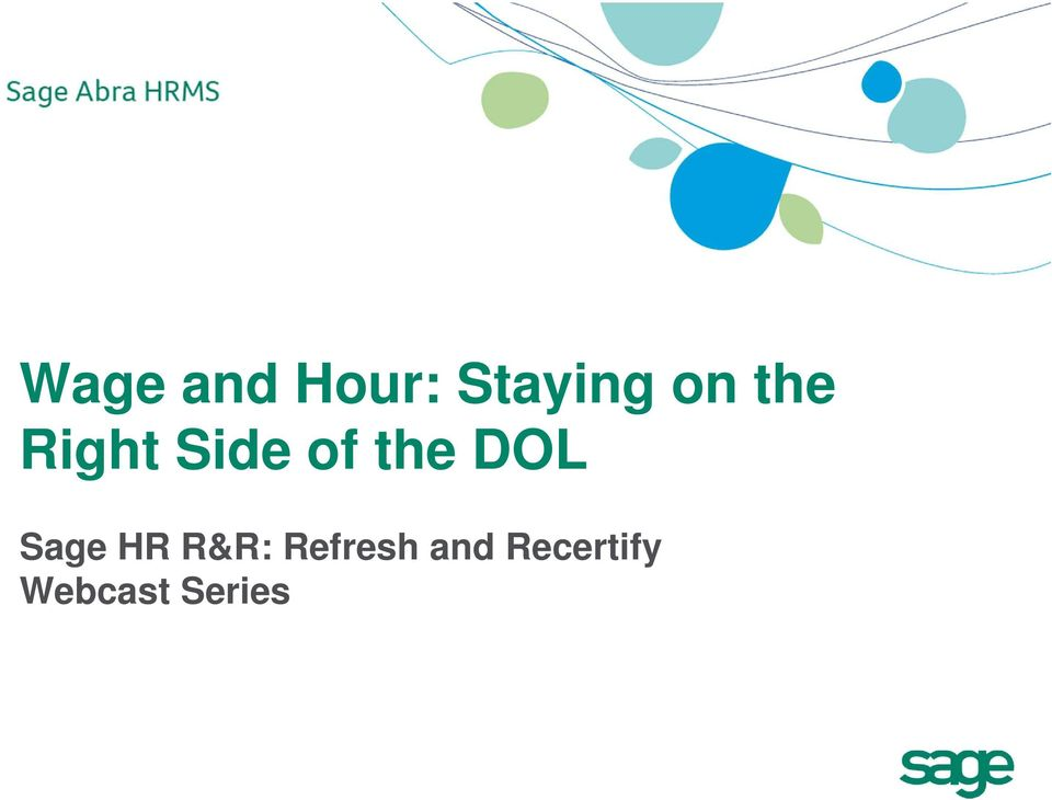 Sage HR R&R: Refresh and