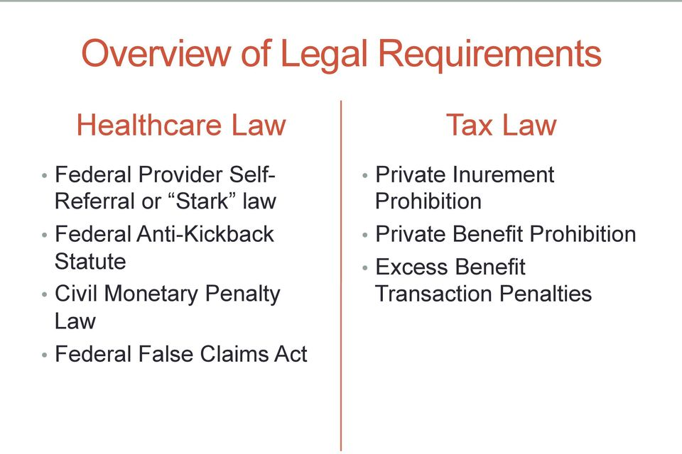 Penalty Law Federal False Claims Act Tax Law Private Inurement