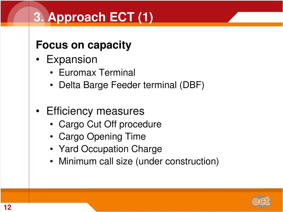 measures Cargo Cut Off procedure Cargo Opening Time Yard