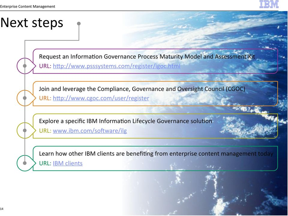 html Join and leverage the Compliance, Governance and Oversight Council (CGOC) URL: hsp://www.cgoc.