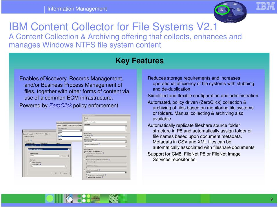 Management of files, together with other forms of content via use of a common ECM infrastructure.