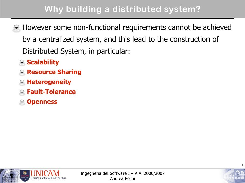 centralized system, and this lead to the construction of