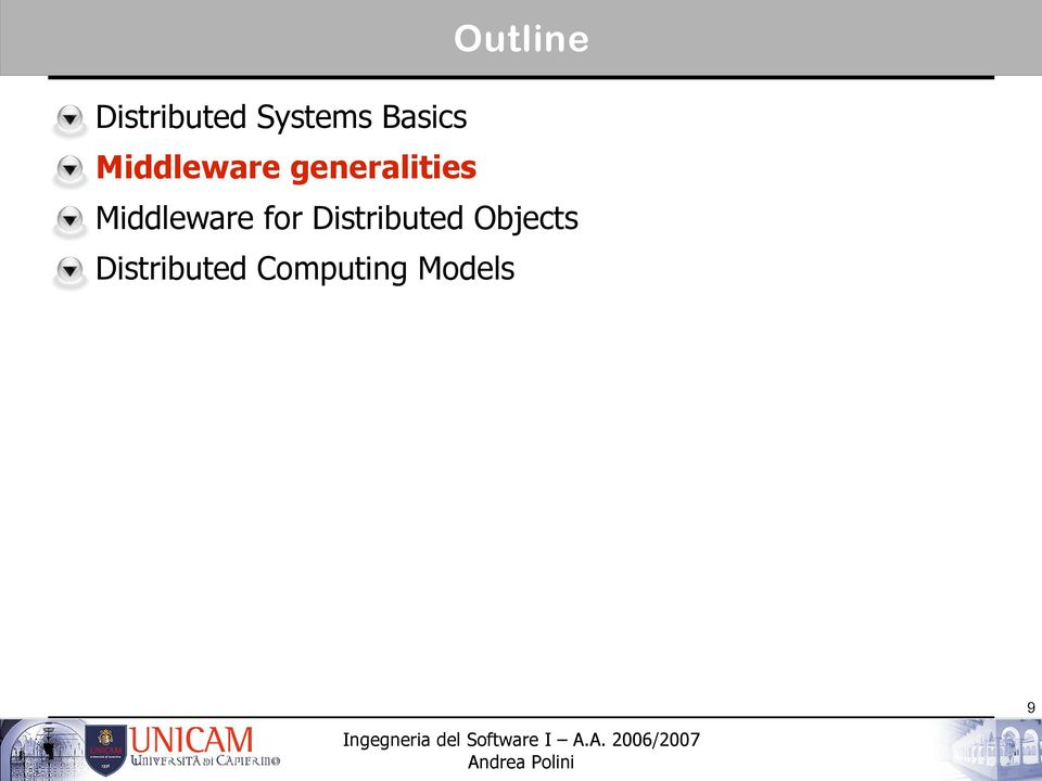 Middleware for Distributed
