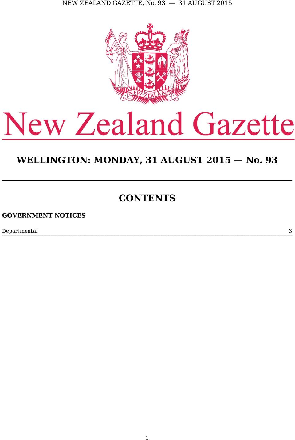 93 GOVERNMENT NOTICES