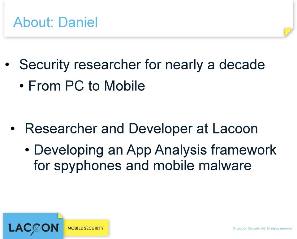 Researcher and Developer at Lacoon