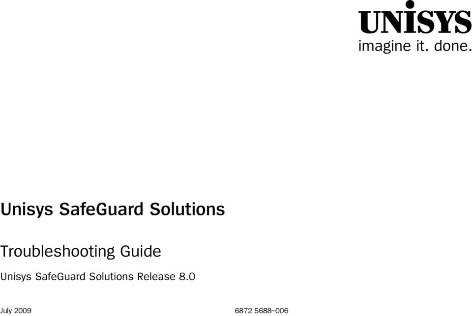 Troubleshooting Guide  Release 8.