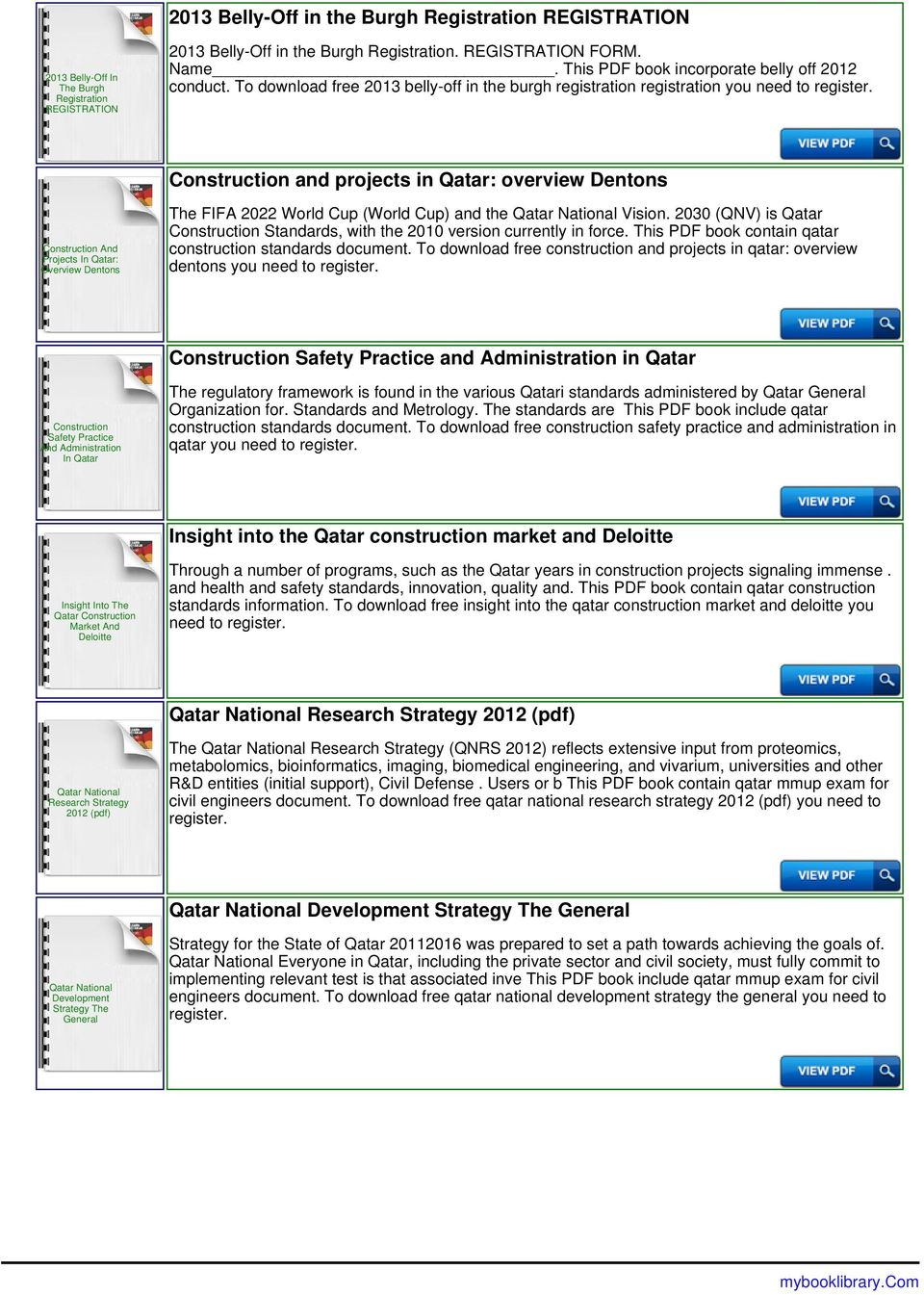 Mmup registration website in qatar pdf to download free 2013 belly off in the burgh registration registration you need to construction fandeluxe Images