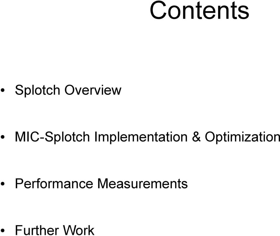 & Optimization Performance