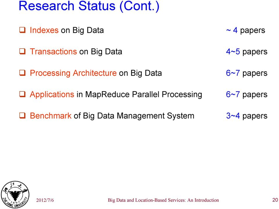 Data Applications in MapReduce Parallel Processing Benchmark of Big Data