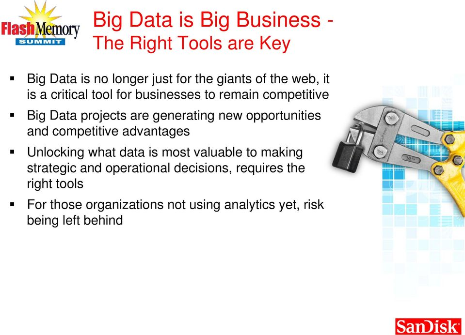 opportunities and competitive advantages Unlocking what data is most valuable to making strategic and