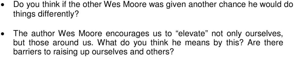 essay on the other wes moore essay on the other wes moore
