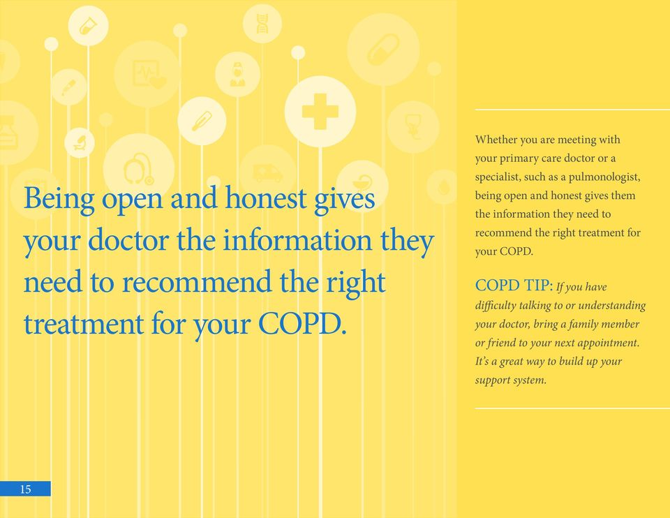 them the information they need to recommend the right treatment for your COPD.