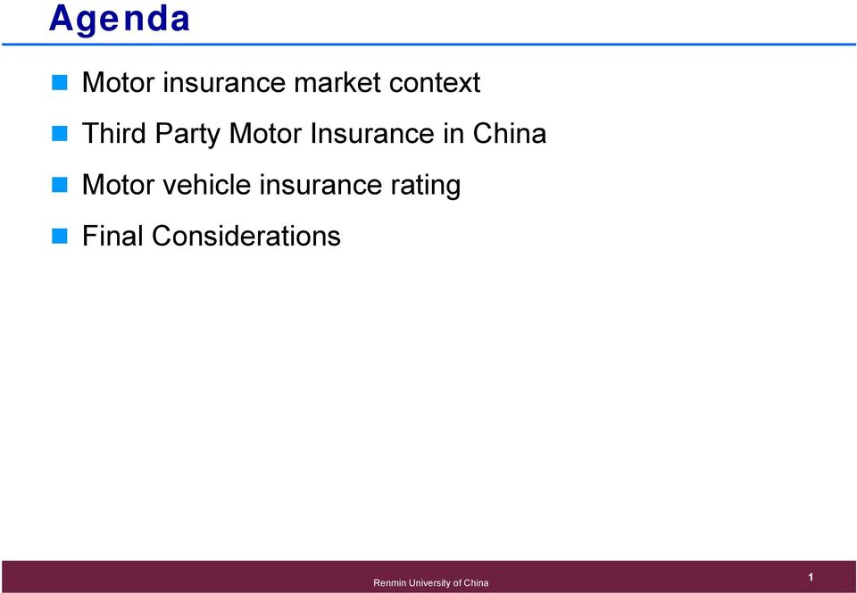 Insurance in China Motor