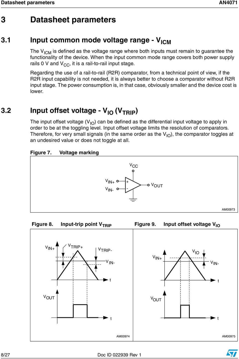 An4071 Application Note Pdf The Following Open Collector Drain Comparator Circuit With Hysteresis When Input Common Mode Range Covers Both Power Supply Rails 0 V And Cc