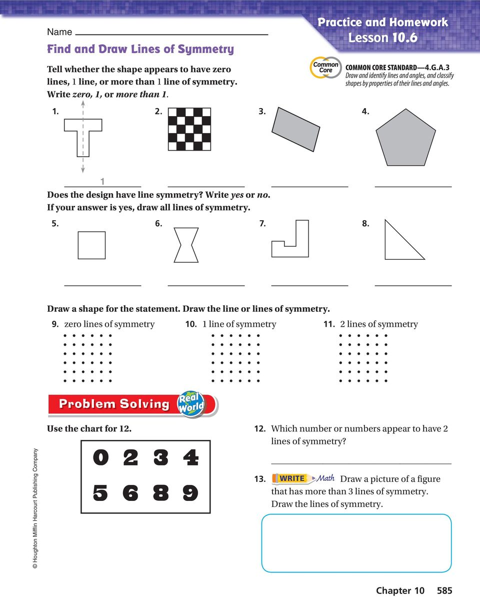 Activity 1 Find Lines Of Symmetry Pdf