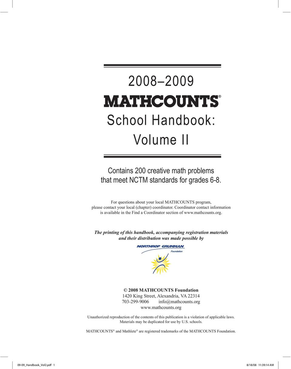 School handbook volume ii pdf the printing of this handbook accompanying registration materials and their distribution was made fandeluxe Images