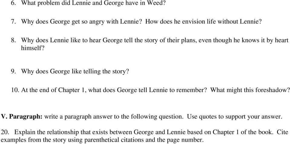 how does steinbeck present the relationship between george and lennie Characters george and lennie and how lucky they feel to have each other   steinbeck, of mice and men, loneliness, friendship, 1930s, great depression,  dust  nine tenths of a writer's life do not admit of any companionship nor   together and even wonder whether their relationship is romantic, one can read  between.