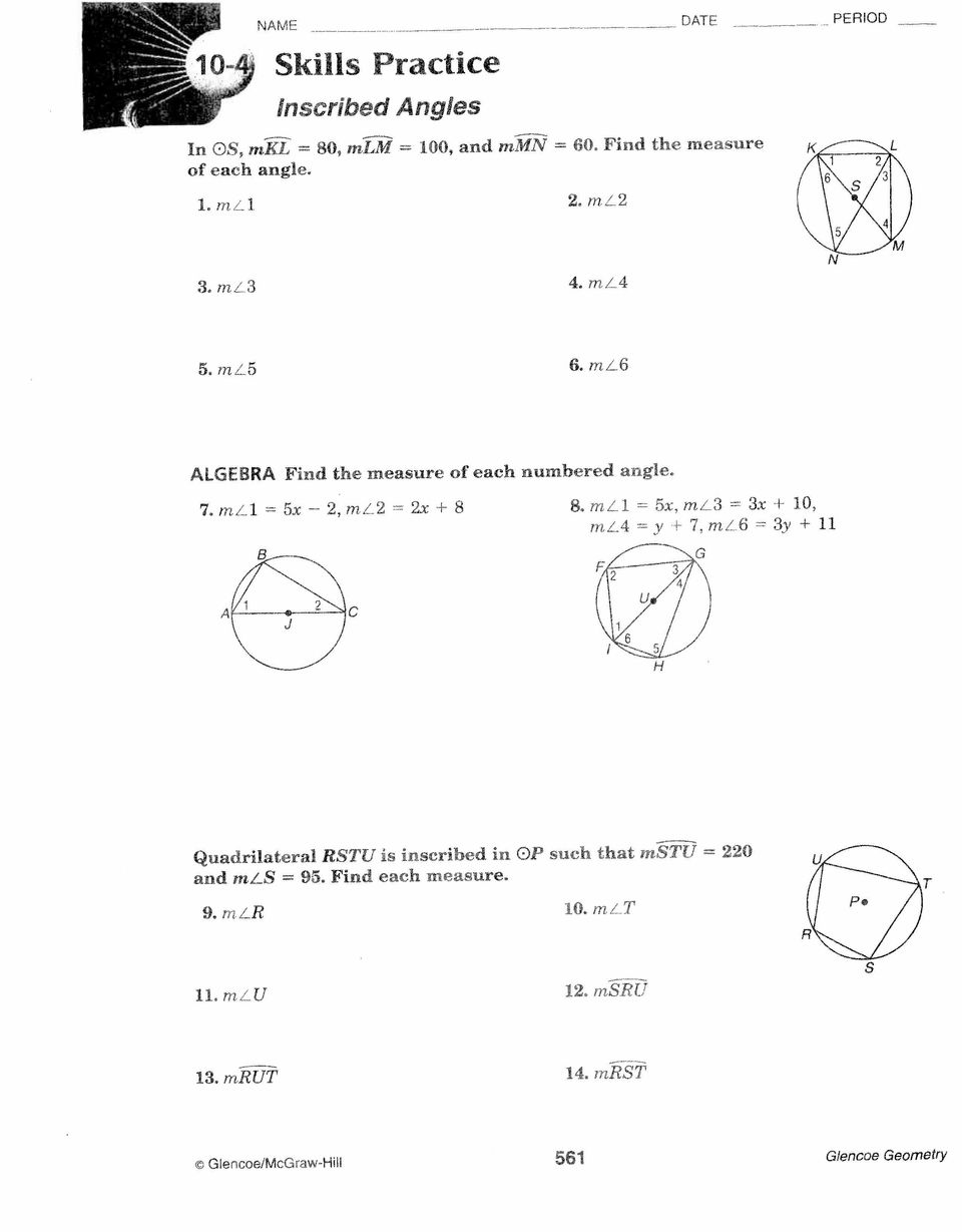 Central And Inscribed Angles Worksheet Time Worksheet Rounding