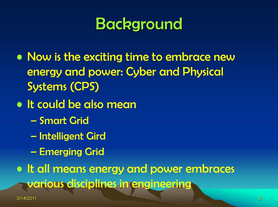 Smart Grid Intelligent Gird Emerging Grid It all means energy