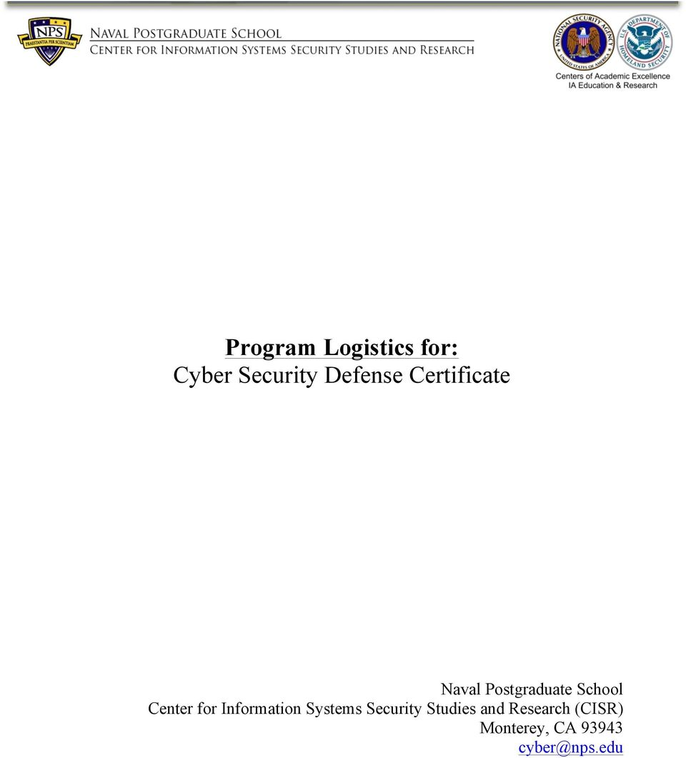 for Information Systems Security Studies and