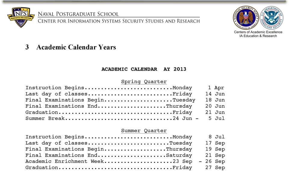 ..24 Jun - 1 Apr 14 Jun 18 Jun 20 Jun 21 Jun 5 Jul Summer Quarter Instruction Begins...Monday 8 Jul Last day of classes.