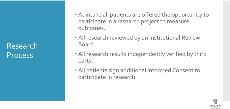 All research reviewed by an Institutional Review Board.