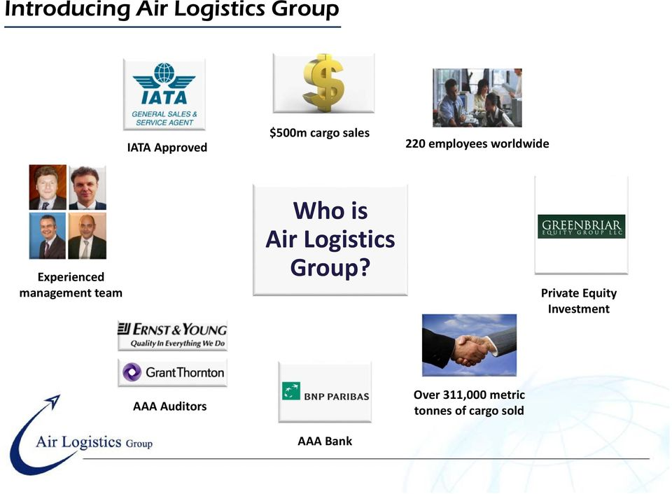 Who is Air Logistics Group?