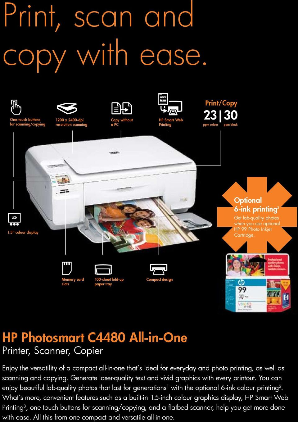Outstanding  with  HP Photosmart All-in-One Printer, Fax