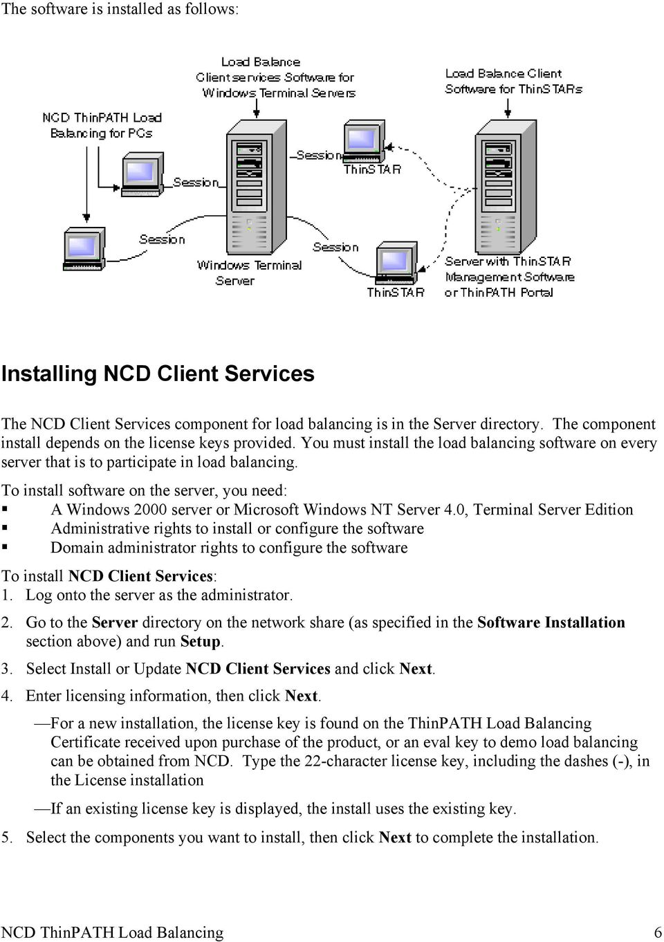 To install software on the server, you need: A Windows 2000 server or Microsoft Windows NT Server 4.