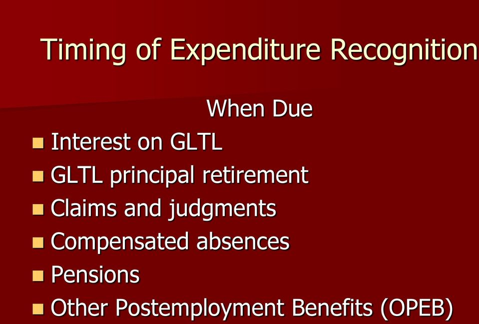 Claims and judgments Compensated absences