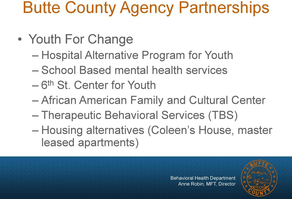 Center for Youth African American Family and Cultural Center Therapeutic