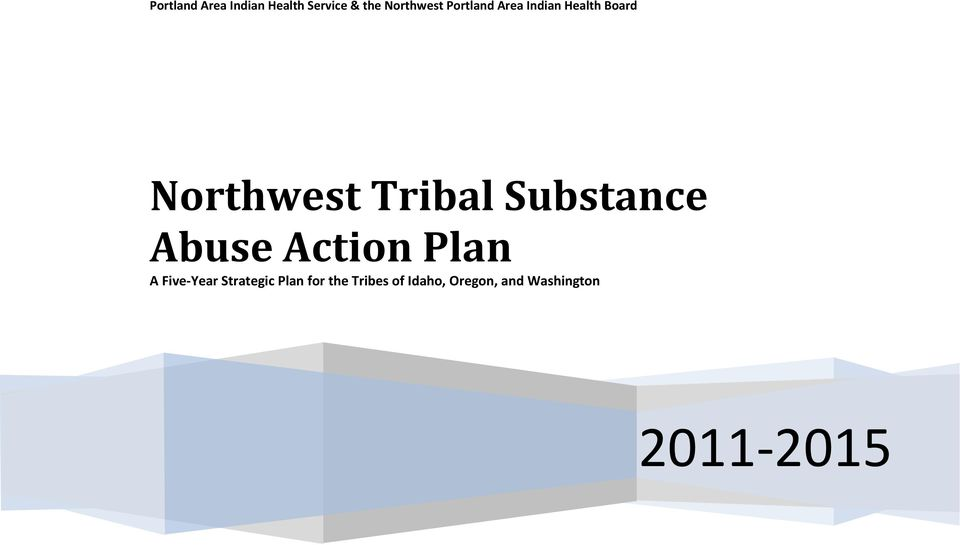 Substance Abuse Action Plan A Five-Year Strategic