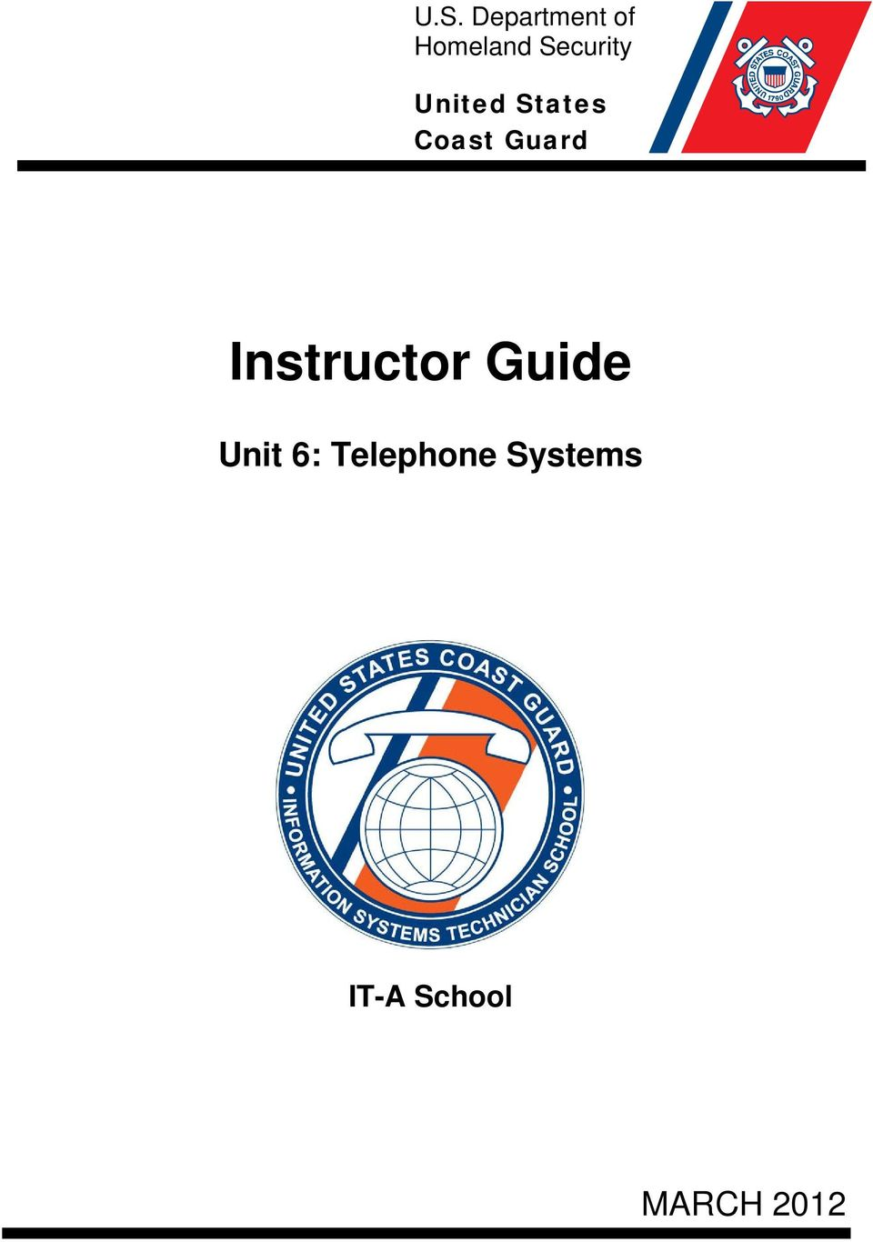 Guard Instructor Guide Unit 6:
