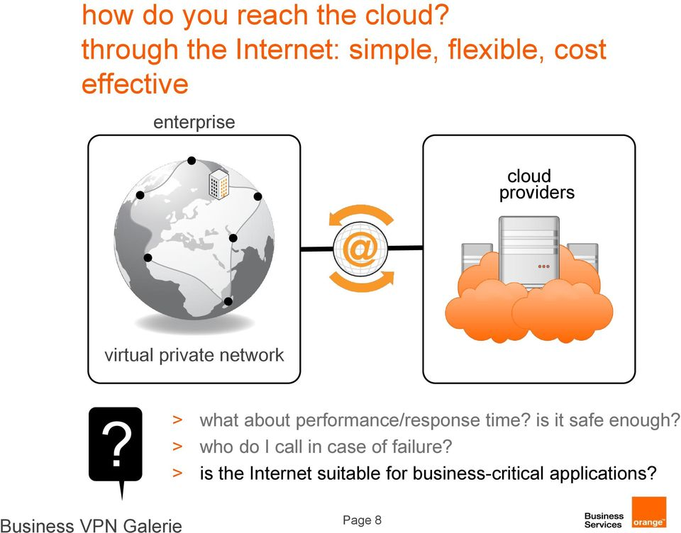 providers virtual private network? > what about performance/response time?