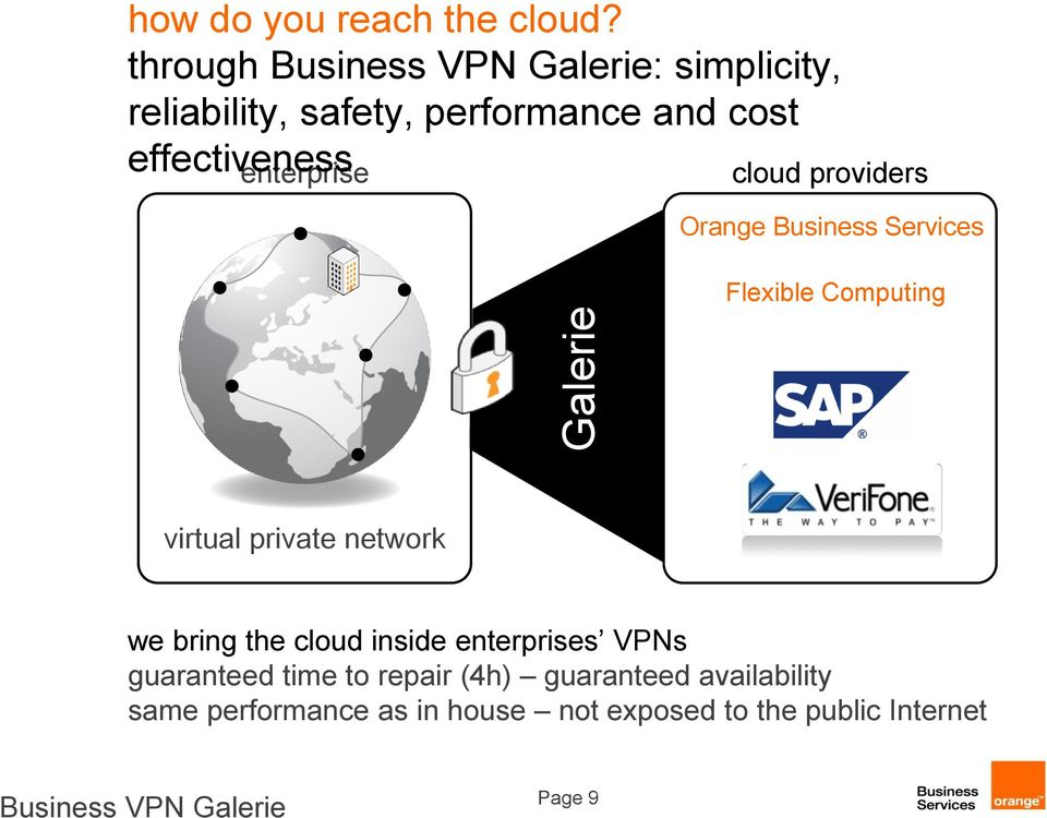 enterprise cloud providers Orange Business Services Flexible Computing virtual private network we bring